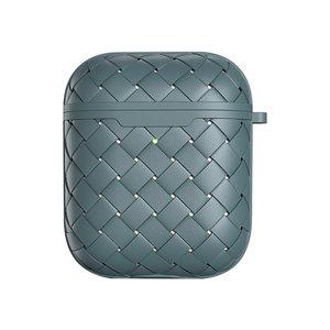 AirPods 1/2 hoesje PU Wave Series - soft case - grijs