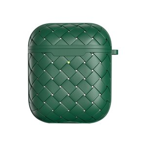 AirPods 1/2 hoesje PU Wave Series - soft case - groen