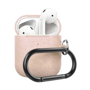 AirPods 1/2 hoesje siliconen chargebox Series - soft case - rosé goud pearl - UV bescherming