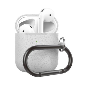 AirPods 1/2 hoesje siliconen chargebox Series - soft case - zilver pearl - UV bescherming