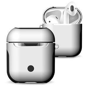 AirPods 1/2 hoesje soft grip - hard case - wit - Schokbestendig