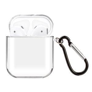 AirPods 1/2 hoesje no series - hard case - Transparant - Schokbestendig