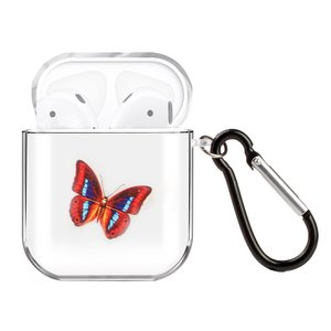 AirPods 1/2 hoesje Painting series - hard case - Vlinder - Schokbestendig