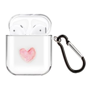 AirPods 1/2 hoesje Painting series - hard case - Red heart - Schokbestendig