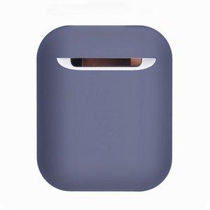 AirPods 1/2 hoesje Liquid series - Siliconen - Licht paars - Schokbestendig