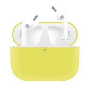 AirPods Pro Solid series - Siliconen hoesje - Geel