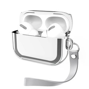 AirPods Pro Glans - hard case - Zilver