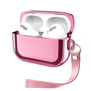 AirPods Pro Glans - hard case - Roze